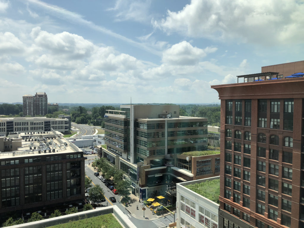 sky view to Rose Park and hot North Bethesda market