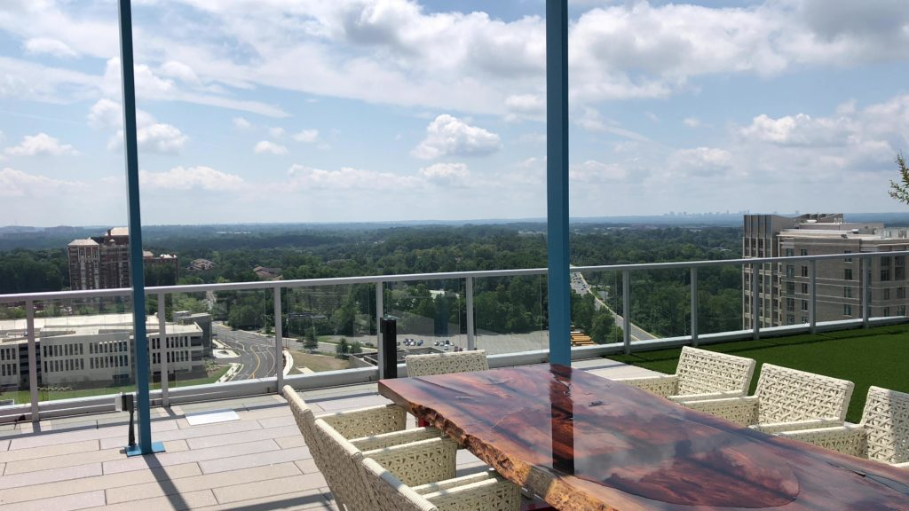 Rooftop view from 930 Pike and Rose North Bethesda