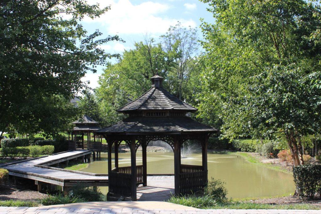 pond walking trail gazebo