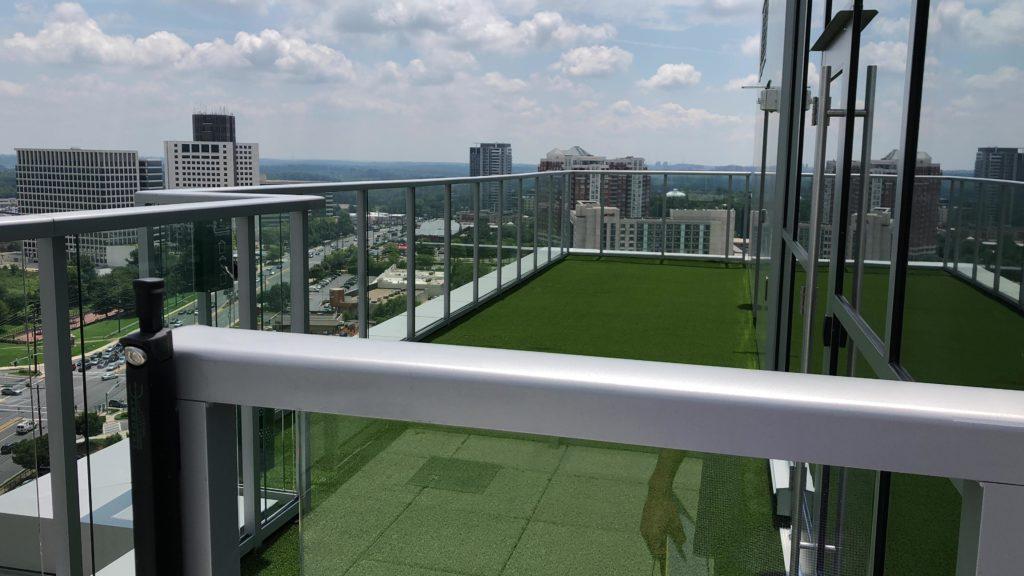 dog walk area on roof of 930 Rose building