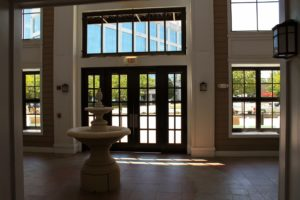 Inside the main lobby at the Fitz condominium