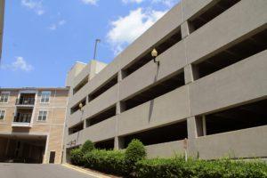 Parking garage at the Fitz condominium in Rockville, Maryland