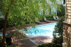 Outdoor pool at the Fitz condos